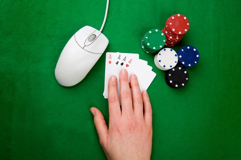 poker online med en datormus