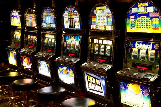 Slot machine in casino
